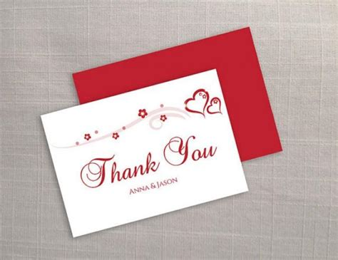 wedding thank you card template word diy printable wedding thank you card template 2373282