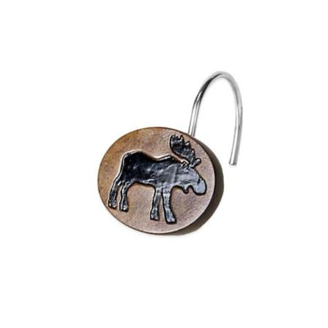 moose shower curtain hooks buy shower curtain moose from bed bath beyond