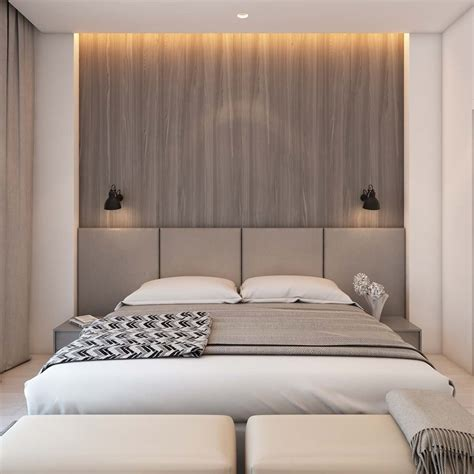 natural wood headboards a simple modern apartment in moscow