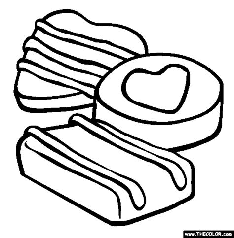 chocolate candy coloring pages valentine s day online