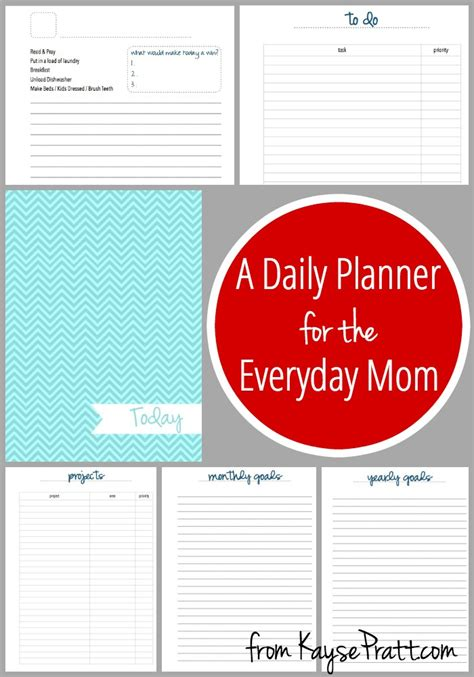 weekly planner for moms printable daily planner printable pack intentional moms