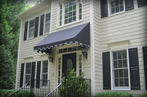 residential door awnings door awnings the copper door awning with single s scrolls