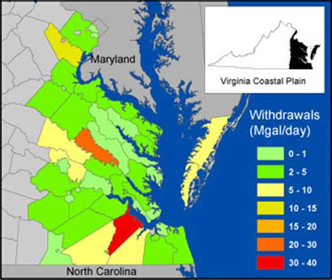 virginia coastal plain gis project map