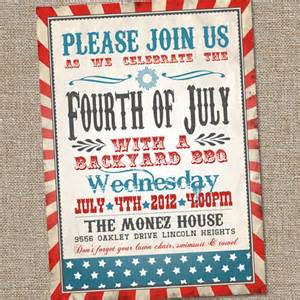 fourth of july invitation vintage fourth of july invitation