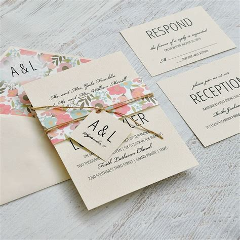 Pretty Wedding Invitations by Pretty Floral Invitation Invitations By
