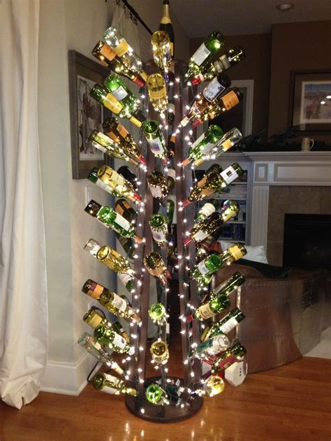 wine bottle christmas tree all seasons pinterest