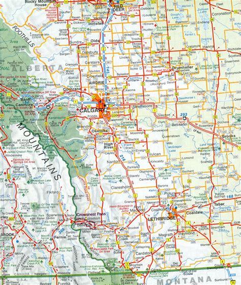 printable road maps of alberta canada road map