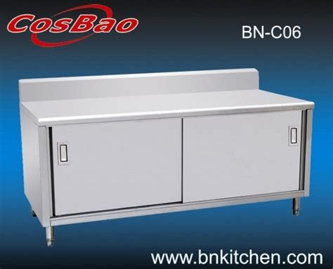 Commercial Stainless Steel Kitchen Cabinets China Restaurant Commercial Stainless Steel Kitchen Cabinet Bn C06 China Kitchen Cainet