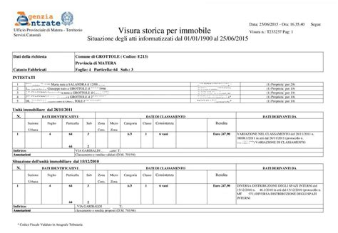 categoria catastale soffitta real estate registry office visura catastale storica