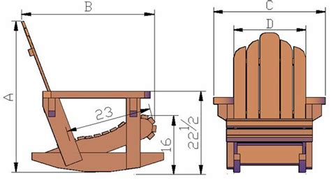 Free Plans To Build Adirondack Chairs by Pdf Free Plans For Adirondack Rocking Chairs Plans Free