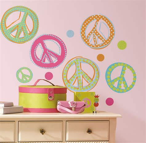 peace wallpaper for bedroom peace signs wall stickers stickers for wall com