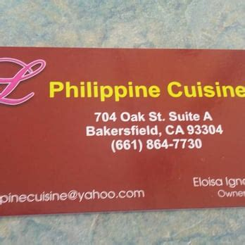 business cards bakersfield l philippine cuisine 80 photos 59 reviews