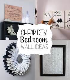 ideas for bedroom walls cheap diy bedroom wall ideas