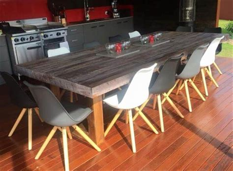 Pallet Wood Dining Table Simple Wood Pallet Dining Table Set