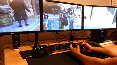 Monitor Ps4 ps4 controller assassin s creed 3 on pc monitors 5760x1080 gameplay
