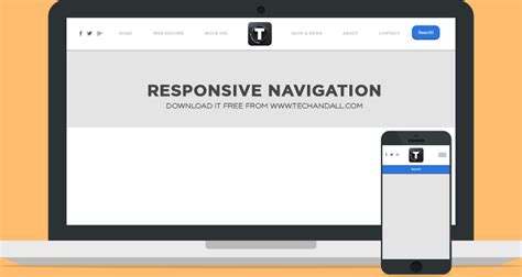 responsive top bar responsive navigation for desktop and mobile welcome to