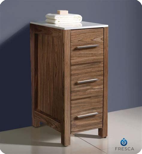 Walnut Bathroom Storage Fresca Torino 12 Quot Walnut Bathroom Linen Side Cabinet Fst6212wb Modern Bathroom Cabinets And