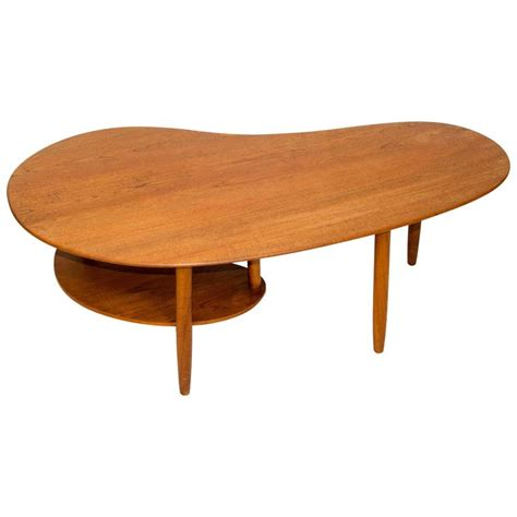 Kidney Shaped Coffee Table Teak Kidney Shaped Coffee Or Cocktail Table At 1stdibs
