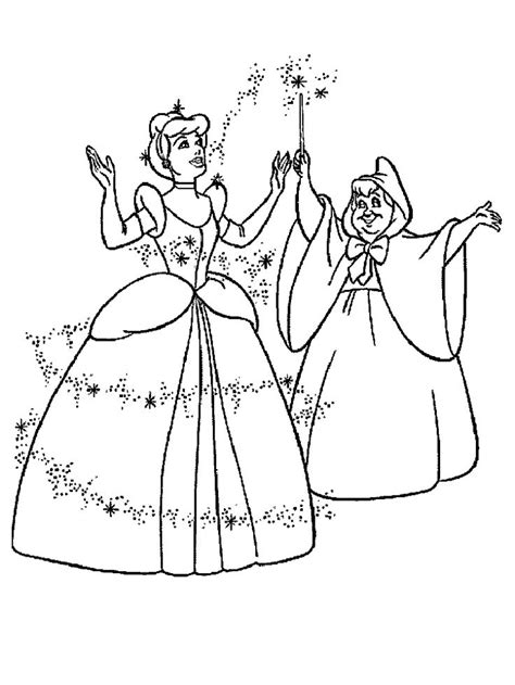 fairy godmother coloring pages 37 best cinderella coloring pages images on pinterest