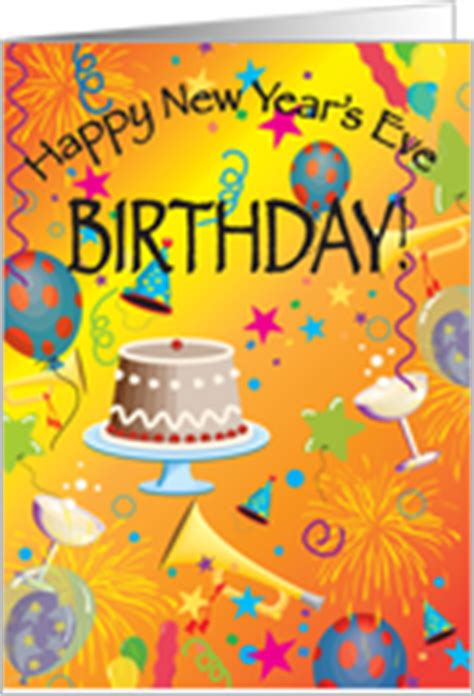 new year birthday birthday on new year s cards from greeting card universe