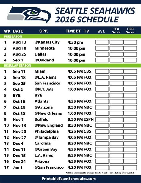 printable seahawks schedule 2015 2016 25 best ideas about seahawks football schedule on