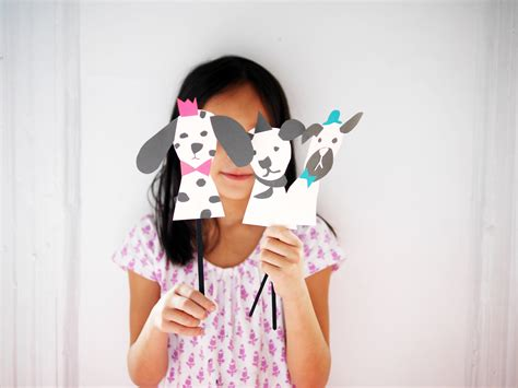 How To Make Handmade Puppets - free printable paper dogs puppets by la maison de