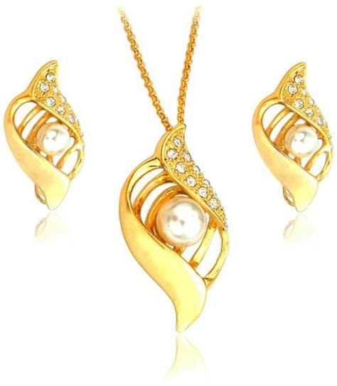How To Buy Gold Jewelry 2 by 22k Gold Plated Pearl And Rhinestone Jewelry Set 2
