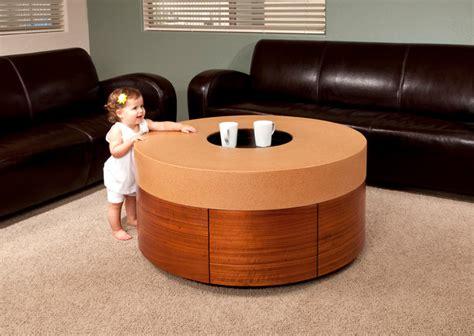 Kid Friendly Coffee Table Kid Friendly Custom Cork And Wood Veneer Coffee Table Contemporary Coffee Tables