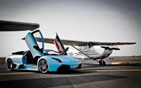 Lamborghini Vs Plane Lamborghini Murcielago Vs Plane Wallpaper Hd Car Wallpapers