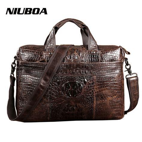 Gesper Rel Crocodille Leather Quality shoulder bags 100 genuine leather messenger bags fashion laptop briefcase crocodile pattern