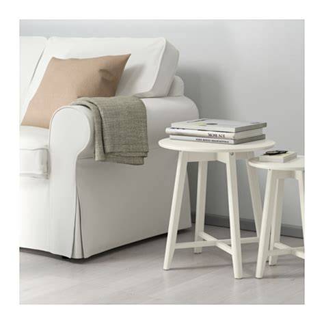 Acrylic Side Table Ikea Kragsta Nest Of Tables Set Of 2 White Ikea