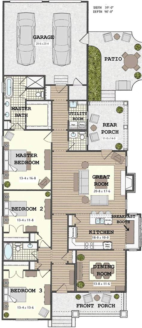 Narrow House Floor Plans | narrow house plans woodworking projects plans