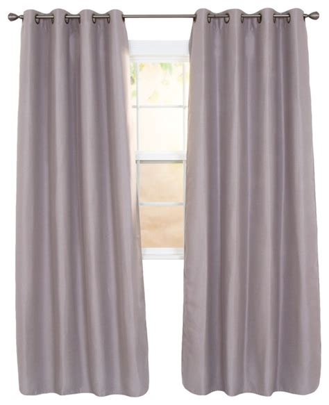 Black Linen Curtains Linen Look Black Out Curtain Panel Silver 84 Quot Traditional Curtains By Trademark Global