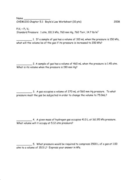 Boyles And Charles Worksheet by Charles Worksheet Answers Worksheets Releaseboard