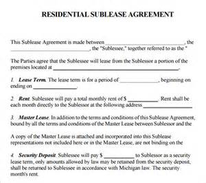 Sublease Agreement Template Word Sublease Agreement 18 Download Free Documents In Pdf Word
