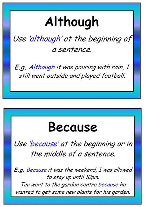 Use Section In A Sentence by Using Although In A Sentence Pictures To Pin On