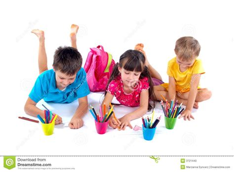 Child Room Design by Drawing Children Stock Photo Image 3721440