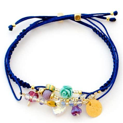 nudos pulseras hilo pulsera hilo azul macrame flor dijes pulseras macram 233