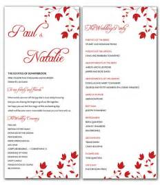 wedding program templates free microsoft word unavailable listing on etsy