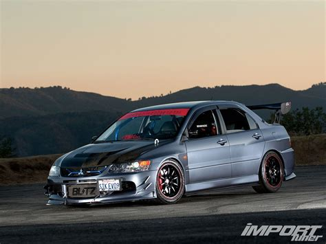 mitsubishi evolution 9 2006 mitsubishi lancer evolution ix import tuner magazine