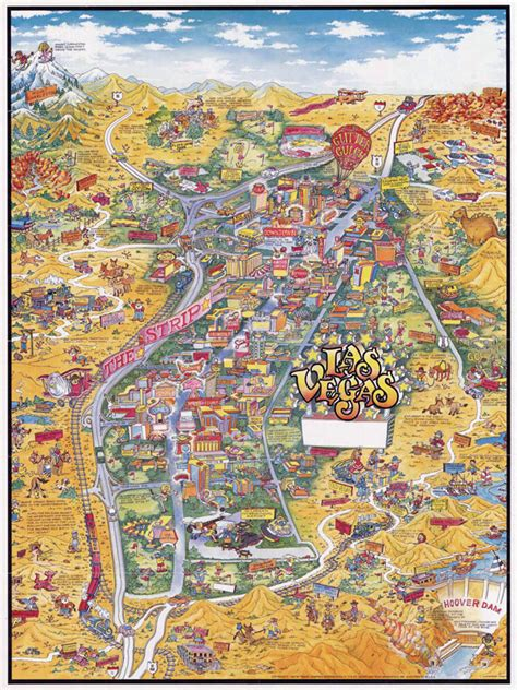 detailed map of nevada usa large detailed tourist illustrated map of las vegas