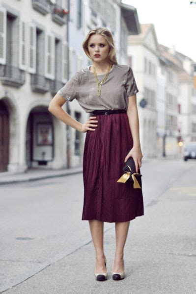 Dress Midi Sabrina Purple Maroon Midi Dress Sabrina Ungu Abu Abu moda mujer mid skirt tendencias el124