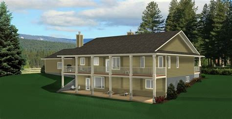 bungalow floor plans with walkout basement ranch style bungalow with walkout basement a well laid