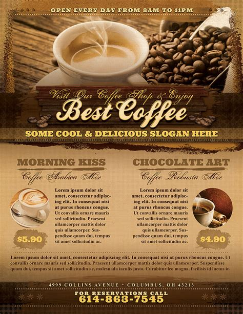 Best Resume Writing Service by Coffee Shop Flyer Template Vandelay Design