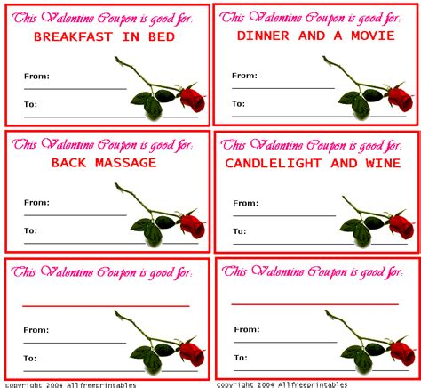 valentine s day coupons printable valentine s day coupons