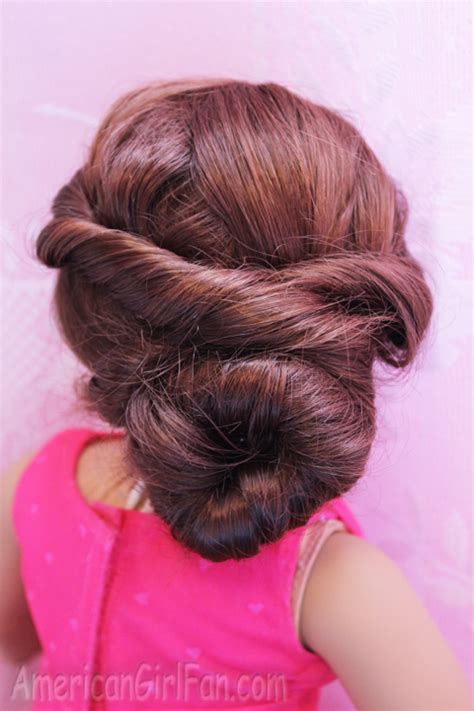 how to mack a bun in a dall hade doll hairstyle fancy buns for easter americangirlfan