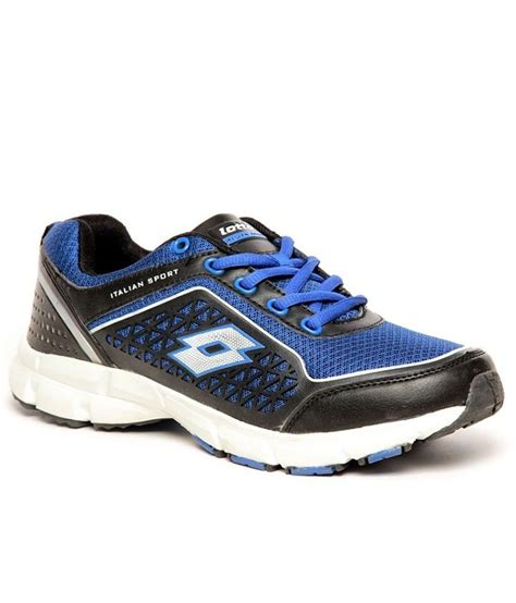lotto everino royal blue and black running sport shoes for