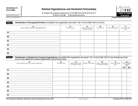 irs section 512 form 990 schedule r related organizations and unrelated