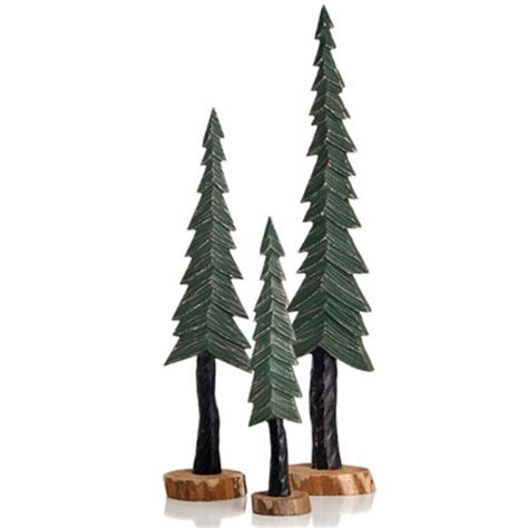 glenna jean carson wood pine trees decor set of 3 free