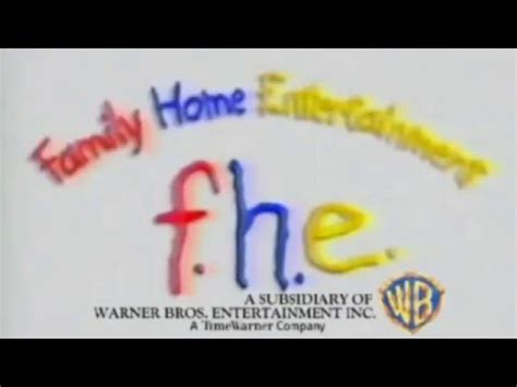 family home entertainment paintbrush logo with warner bros
